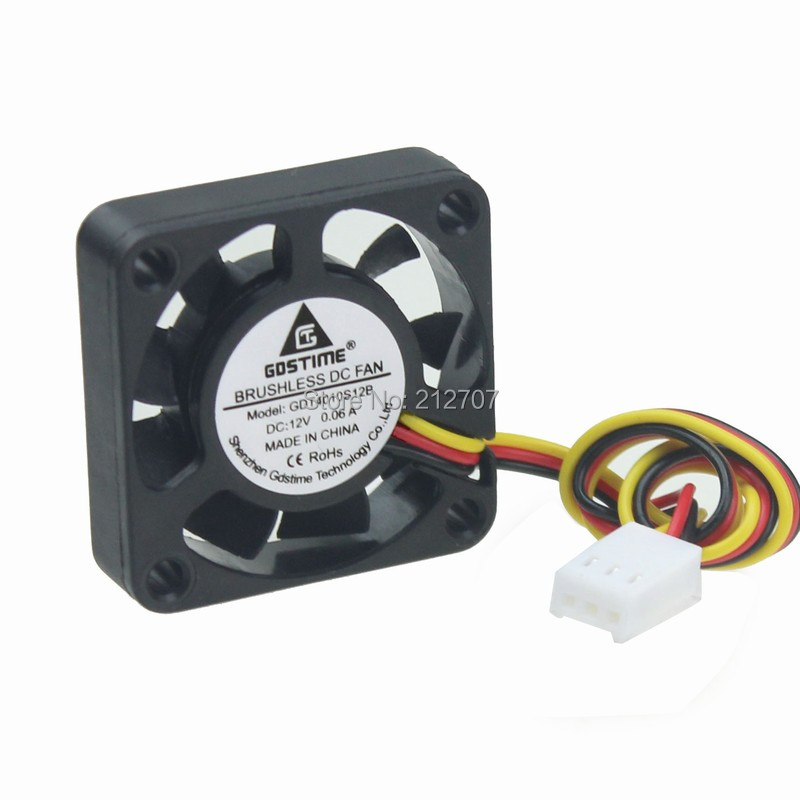 10 x Brushless DC Cooling Fan 40x40x10mm 40mm 4010 7 blades 12V 3pin Connector
