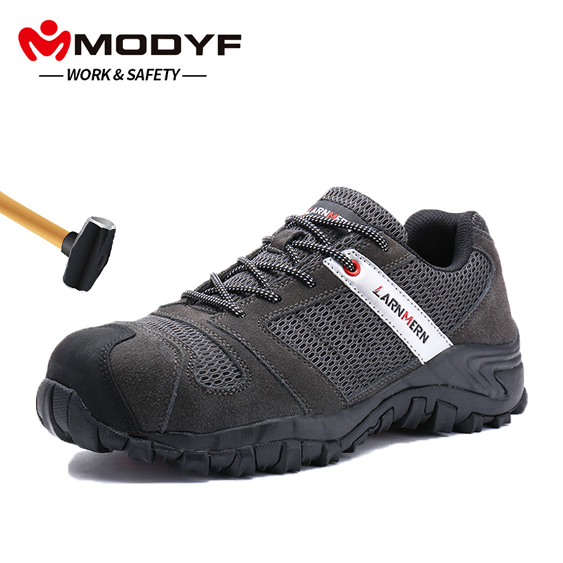 Men's Shoes Responsible Modyf Mens Steel Toe Work Safety Lightwieght Breathable Anti-smashing Anti-puncture Non-slip Construction Footwear Nourishing Blood And Adjusting Spirit