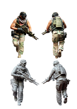 [tuskmodel] 1 35 scale resin model figures kit  US special forces operators seven 1