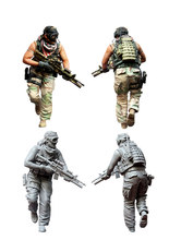 [tuskmodel] 1 35 scale resin model figures kit US special forces operators seven(China)