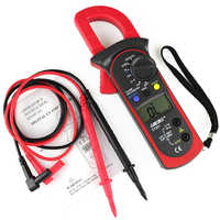 Multímetro de abrazadera Digital LCD OHM amperios voltímetro CA/CC probador de resistencia de corriente