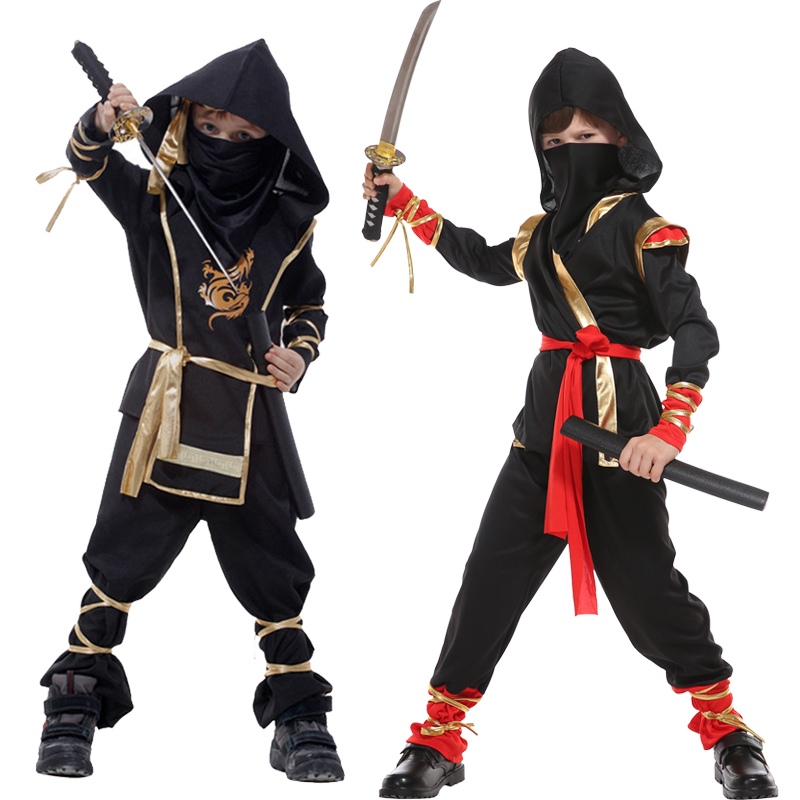 Free shipping Martial Arts Ninja Cosplay Costumes For Kids Children Adult  Halloween holday Fancy Party Decorations dress up
