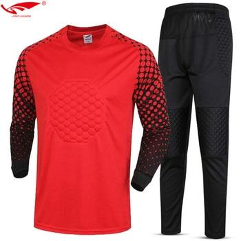 Vigilancia fútbol 2018 hombres uniformes portero manga larga de alta  calidad de fútbol portero camisetas para adultos 009689c2b39cc