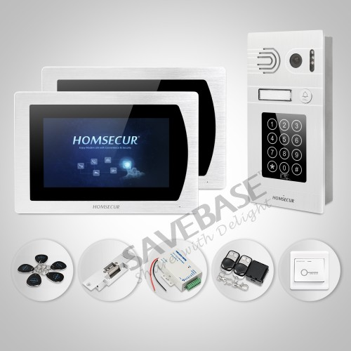 HOMSECUR 7 Wired Video&Audio Smart Doorbell Door Intercom with Password Access for Apart ...