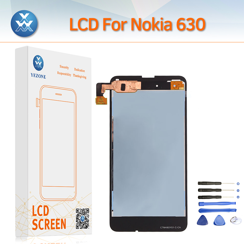 AAA Mobile Phone Display for Nokia Lumia 630 LCD Screen Touch Digitizer Panel Frame Complete Assembly Repair Pantalla+Tools