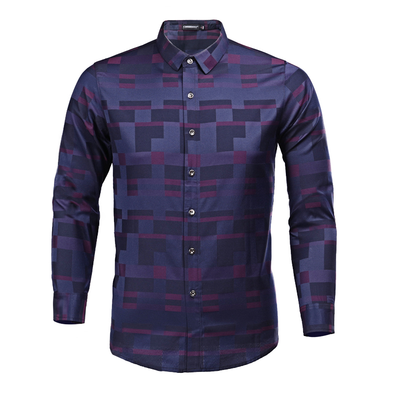COODRONY Men Shirt Mens Business Casual Shirts 2018 New Arrival Men Famous Brand Clothing Plaid Long Sleeve Camisa Masculina 712