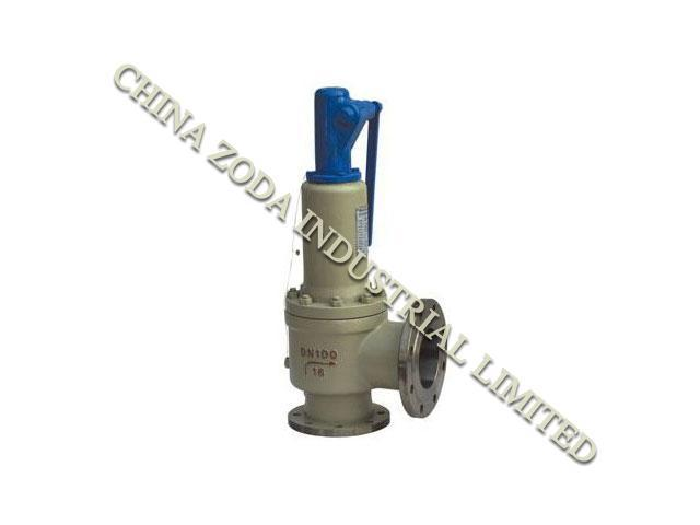 Packed lever balance bellows pressure relief valve on