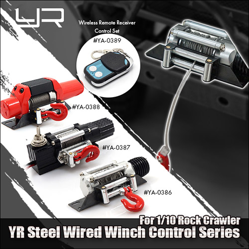 Rc Scale Truck Electric Winch W Switch Alloy Metal For Rock
