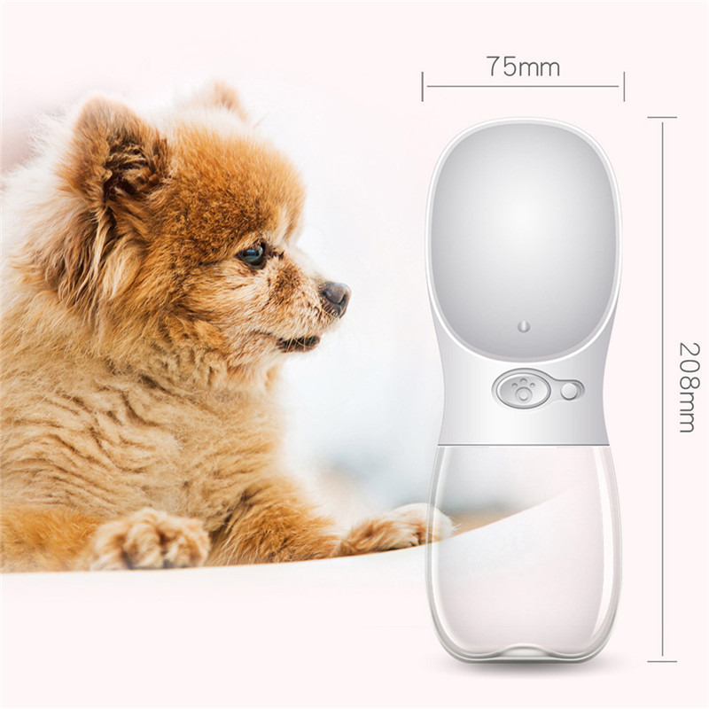 Newest Pet Dog Cat Water Bottle Portable Travel Cups Outdoor Feeder Water Drinking Bowl 350/550ML Small Large Dogs Pet Products 1