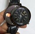 2017 Nova F776 Relógios relógio de Quartzo dos homens relógios de Pulso Eletrônico Recarregável USB Isqueiro À Prova de Vento Sem Chama Isqueiro