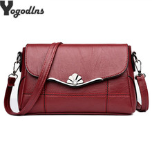 Women Bags Designer Shoulder Bag Fashion Handbag and Purse PU Leather Crossbody Bags for Women 2019 New Black&Red(China)