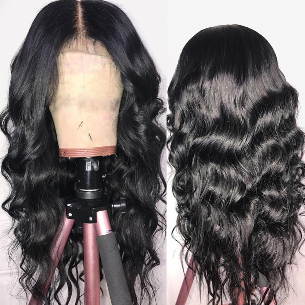 13*4 Lace Front Human Hair Wigs Pre Plucked Hairline Brazilian Body Wave Lace Front  Wig With Baby Hair For Black Women Non Remy