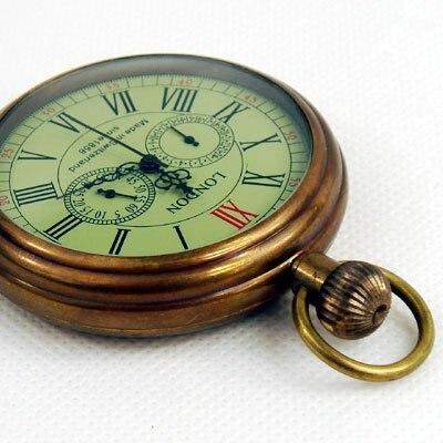 London 1856's Antique 5 Hands Mechanical Pocket Watch Freeship