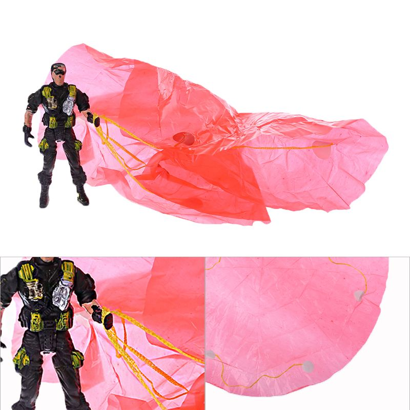 3pcs 9cm Paratroopers Child Games Outdoor Sports Hand Throw Parachute Soldiers Toy