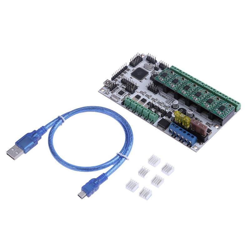 Rumba Plus Motherboard 2560 Upgrade Rumba+ For 3D Printer Accessories RUMBA Optimized Version Control Board mofem rumba 150 0038 10 для раковины