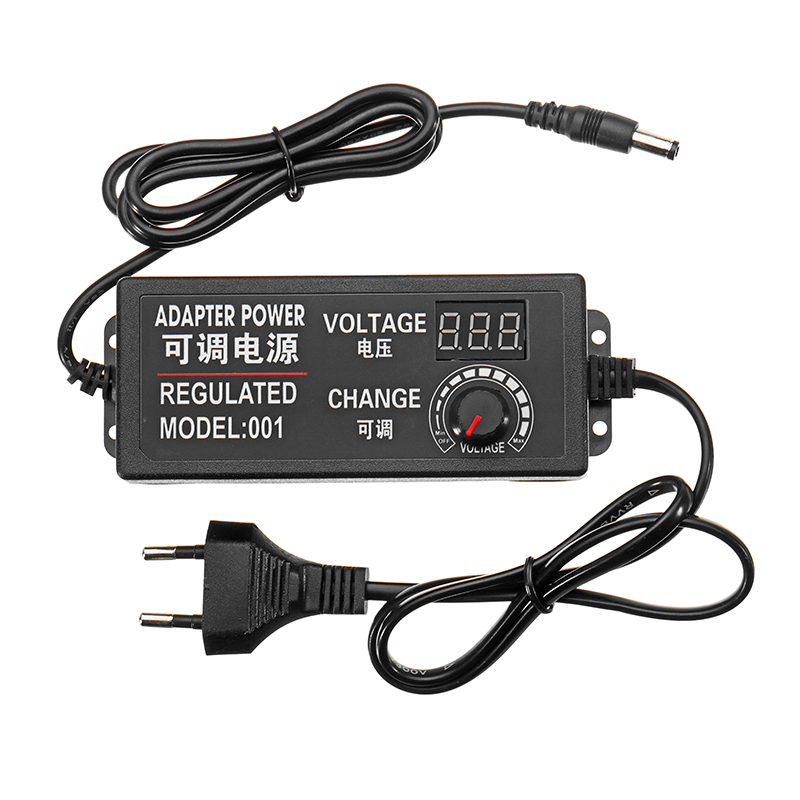 New Style 9-<font><b>24V</b></font> 3A 72W AC/<font><b>DC</b></font> <font><b>Adapter</b></font> Switching Power Supply Regulated Adjustable Power <font><b>Adapter</b></font> Display EU Plug High Quality image
