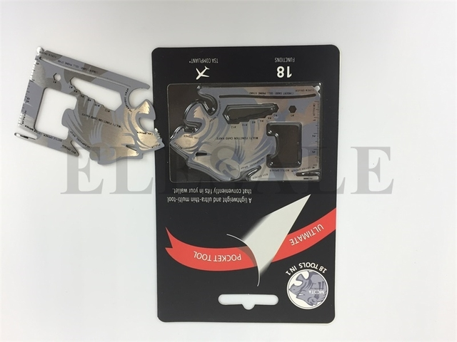 Tiger Credit Card Knife Multifunctional Pocket Knife Wallet Multi Tool Multitool Self Defense Supplies Multi Tools 10 in 1