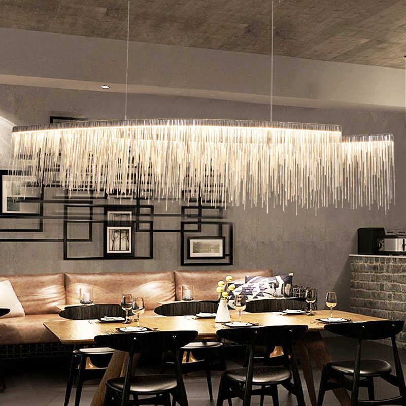 Современные Простые художественные лампы, простые атмосферные цепочки, люстра, скандинавский минимализм, спальня, гостиная, ресторан, огни