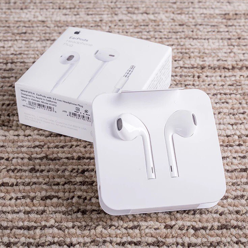 Apple earpods originais com 3.5mm plug & lightning in-ear fone de ouvido earbud mais profundo graves mais ricos para iphone android smartphone