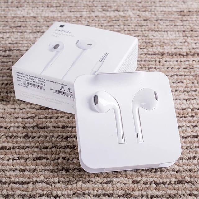 Oryginalny Apple słuchawki douszne z 3.5mm wtyczką i błyskawica douszne słuchawki douszne głębiej bogatszy bas, dla iPhone Android Smartphone