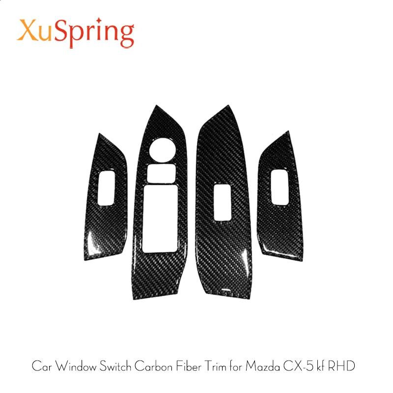 Car Window Switch Panel Adjust Cover Trim Stickers Strips Garnish Decoration For Mazda CX 5 CX5