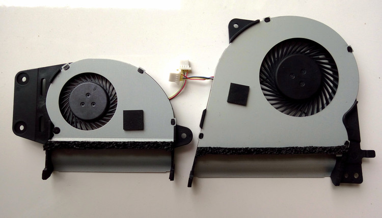 New for Asus UX303L UX303LN UX303LA UX303LB laptop CPU+GPU cooling fan 4pins L & R new ksb0612hb cl46 for asus g750j g750jw gpu cooling fan please confirm disassemble the fan pictures