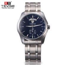 Original Top Brand TEVISE Hombres Mecánicos Del Reloj De Lujo Famosa Marca de Relojes Calendario Impermeable de Los Hombres de Acero de Pulsera para Hombres