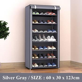 ไม่ทอผ้ากันฝุ่นรองเท้า Rack Organizer สามารถย้าย Space - Saving Storage ตู้เก็บรองเท้าตู้เฟอร์นิเจอร์ห้องโถงชั้น...