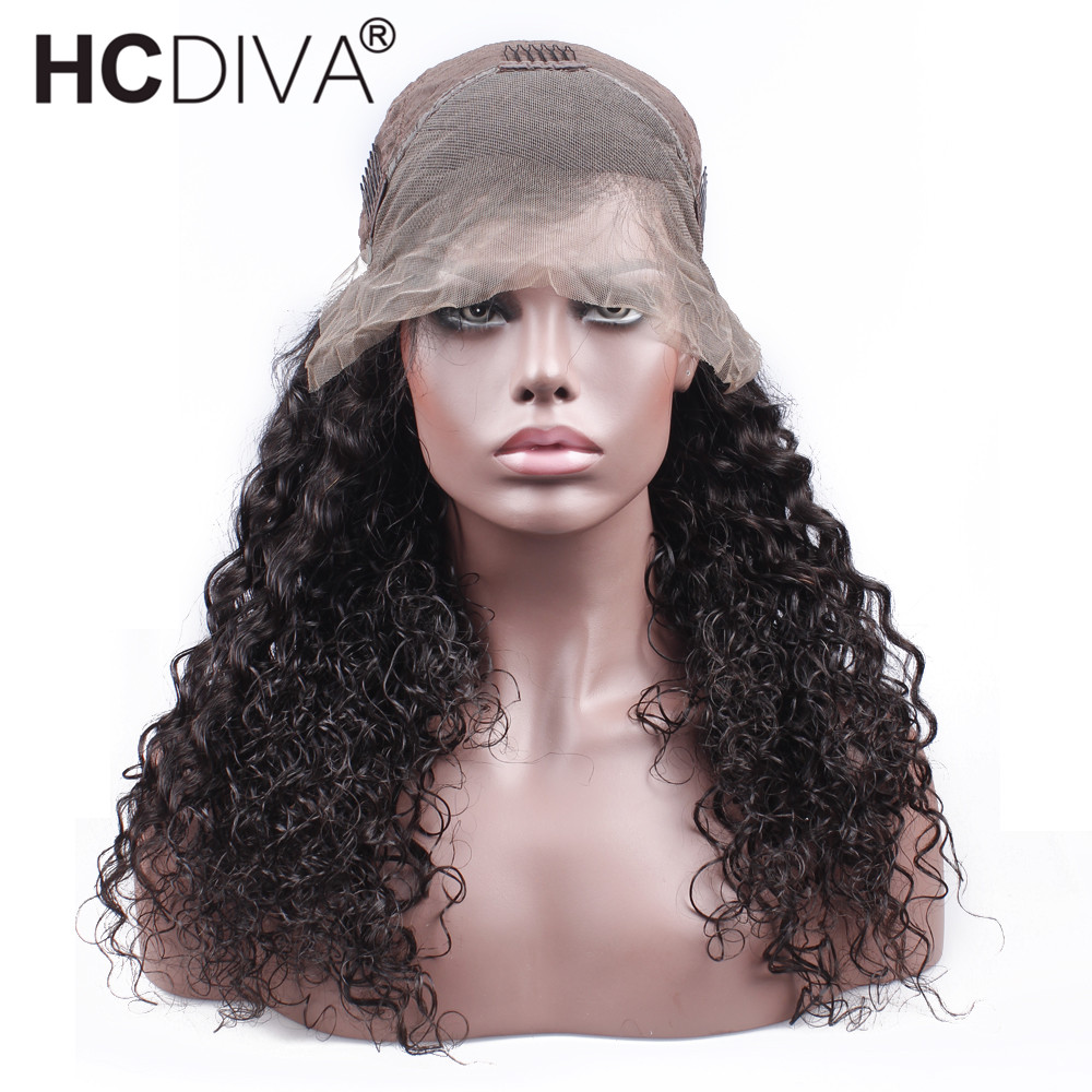 Malaysian Lace Front Human Hair Wigs Remy Human Hair Water Wave Wig With Baby Hair Natural