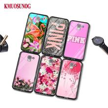 Black Silicone Case Love Pink Flamingo for Samsung Galaxy j8 j7 j6 j5 j4 j3 Plus Prime 2018 2017 2016 Phone Bag Cover аксессуар чехол with love moscow samsung galaxy j7 2017 кожаный black 10207