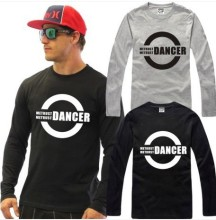 New Men's long sleeve T shirt Slim Dancer bboy Cotton Top Casual Hooded Fashion