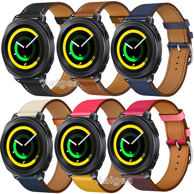 20mm Genuine Leather Watch Band Strap for Samsung Gear Sport Smart Watch Fashion Replacement Wrist band strap for gear sport20mm Genuine Leather Watch Band Strap for Samsung Gear Sport Smart Watch Fashion Replacement Wrist band strap for gear sport