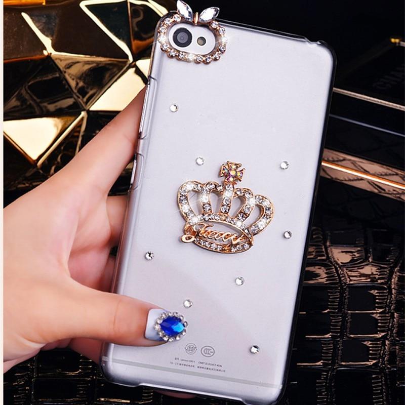 Couronne de luxe Bling Strass Téléphone étui pour iphone 11 Pro Max XS Max XR X 8 7plus 6 6S Plus 5S SE Cristal Couverture Coque Funda