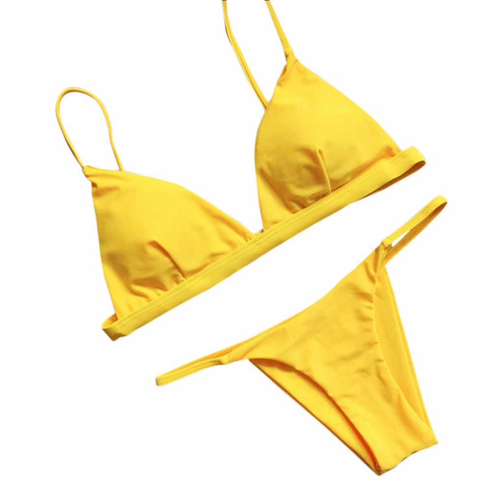 TELOTUNY bayan mayo kadınlar Push-Up yastıklı sütyen plaj Set mayo mayo kadın mayo moda sıcak yeni bırak gemi jan15
