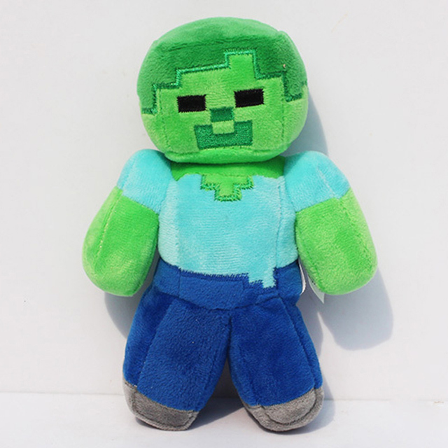 15 Styles 16-26cm Minecraft Plush Toys Minecraft Creeper Enderman Wolf Steve Zombie Spider Sketelon Plush Stuffed Toys for Kids