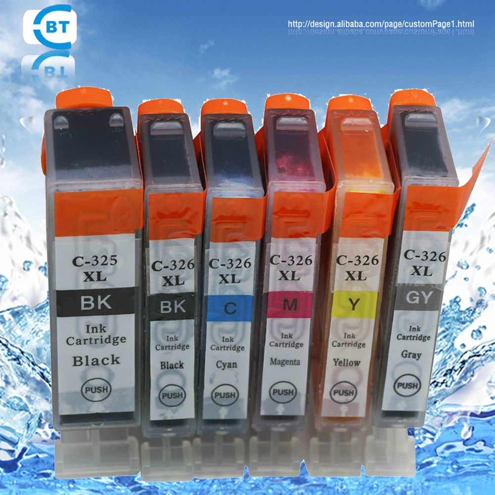 5PCS compatible canon bci 325 pgbk cli 326 ink cartridge