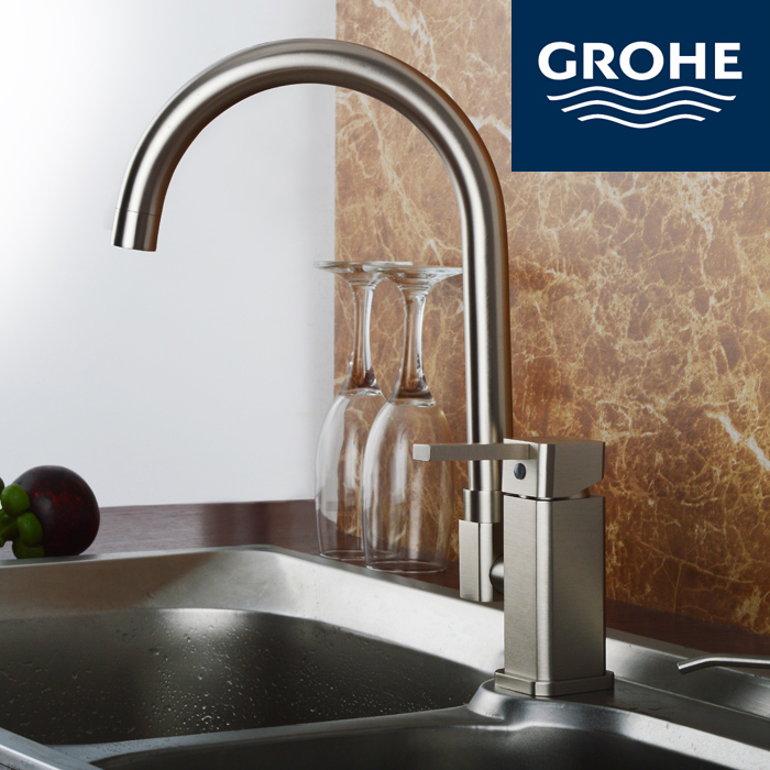 GROHE Grohe imported copper matte drawing kitchen sink basin rotary mixing faucet