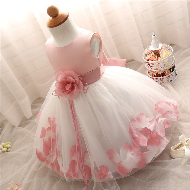 Newborn Baby Girls Dress Little Girls Birthday Clothing Tulle Toddler Christening Dress Infant Princess Party Costume for bebes