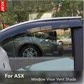 Para Mitsubishi ASX 2011 2012 2013 2014 Janela Viseira Ventilação Sombra Chuva/Sol/Guarda Vento 4 pçs/set para acessórios ASX