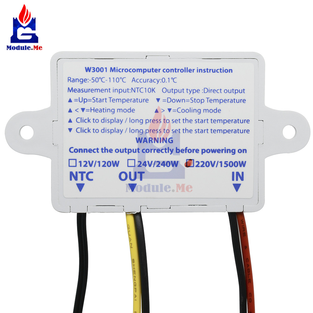 220V AC 10A XH W3001 Digital LED Temperature Control Controller For Diagram Controller Temperature Wiring Xh W on