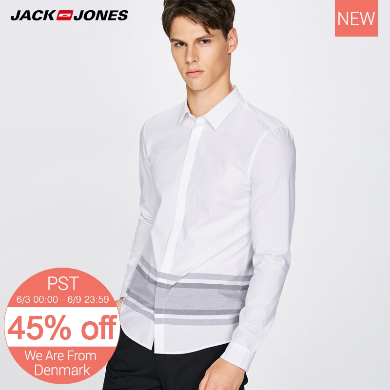 Jack Jones Men's Cotton Striped Shirt Clothes E|217305530