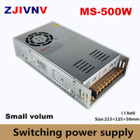 500w small volume switching power supply output 12v 15v 24v 36v 27v 48v input 100~240vac mini led smps 12v 40a, 24v 20a, 48v 10a
