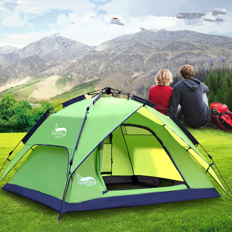 3-4 Person 180*210*130CM Double Ultralight Camping Tent Waterproof Automatic Tents Outdoor Climbing Fishing Tents Shop Online otomatik çadır
