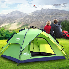 3-4 Person 180*210*130CM Double Ultralight Camping Tent Waterproof Automatic Tents Outdoor Climbing Fishing Shop Online
