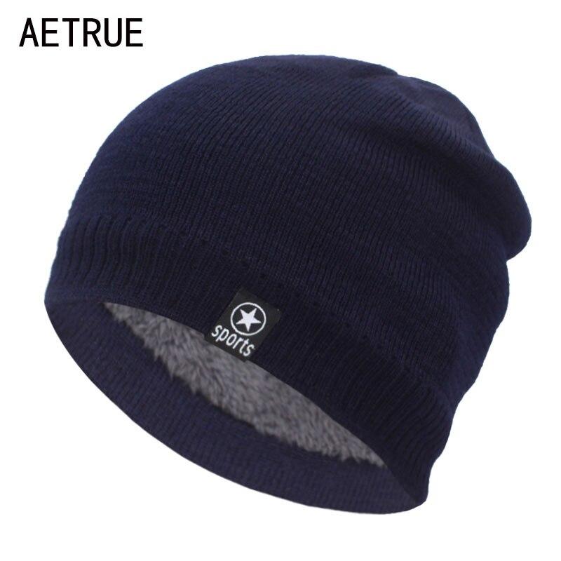 AETRUE Winter Knitted Hats For Men Women Skullies Beanies Male Mask Gorras Bonnet Warm Soft Ski Winter Hats For Men Beanie Hat