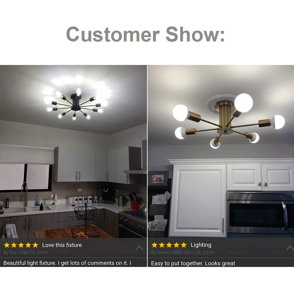 retro aranha lustres semi flush montar lâmpada