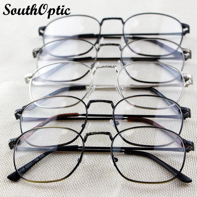 2016 nova completa aro masculino Retro Vintage liga moda elegante óculos 3 cores armações prescrição 9709 Plain decorado