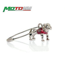 Para MINI Cooper Bulldog Bull Dog Keychain Chave Corrente de Prata B(China)