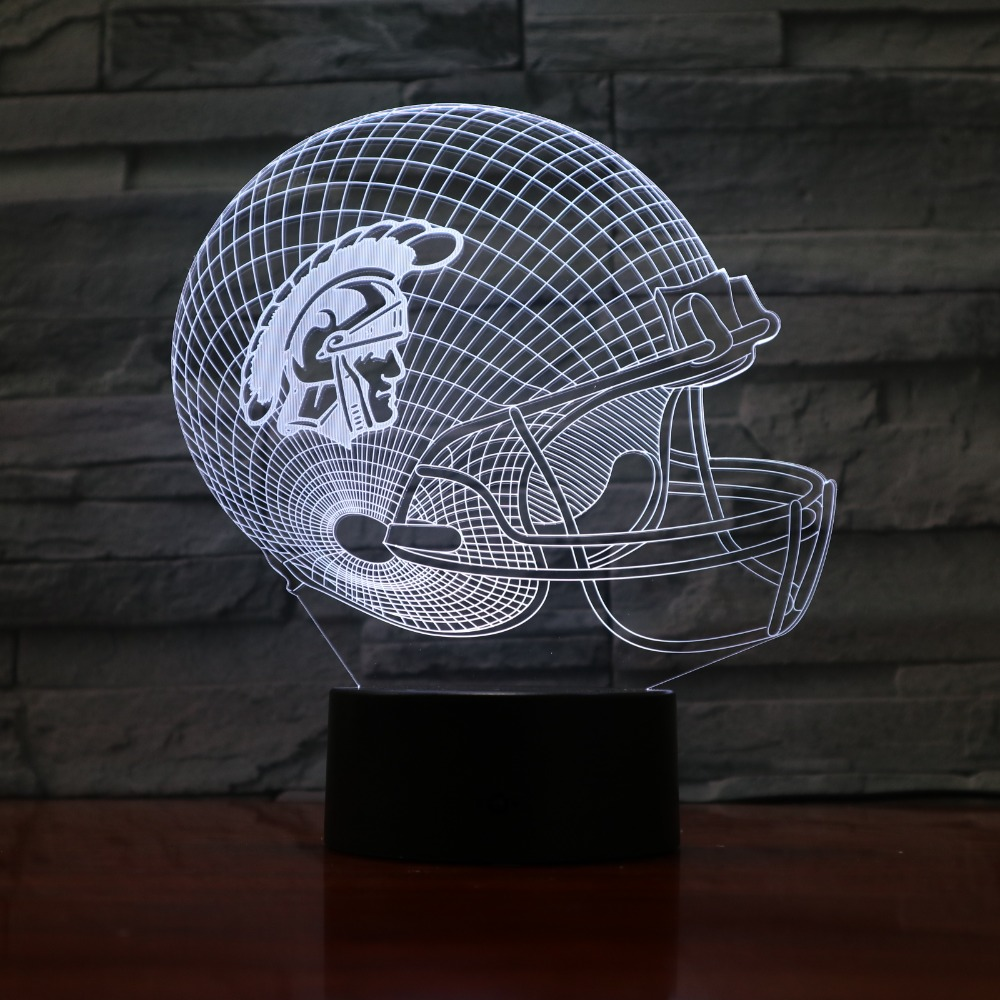 NFL Washington Redskins American Football Team Helmet 3D Night Light 7 Colors Change LED USB Table Lamp Creative Light 3D-941