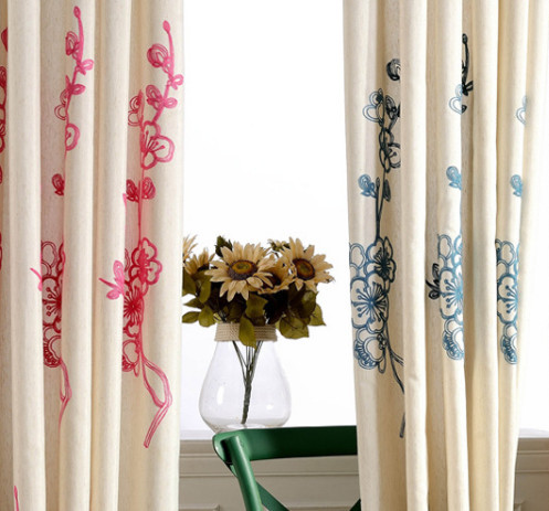 Popular Embroidered Linen Curtains-Buy Cheap Embroidered Linen ...